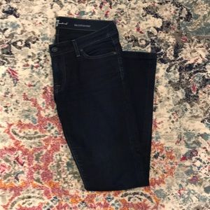 7 for all mankind dark straight jeans